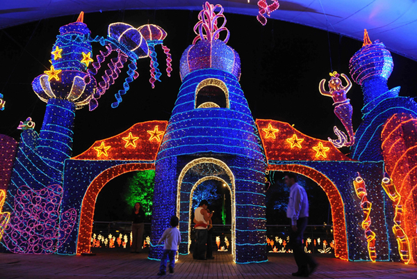 Brea Christmas Lights.Christmas Lights In The Park Medellin Colombia